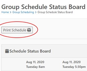 Group Schedule Status Board Print Button shared by Russell Cleverly