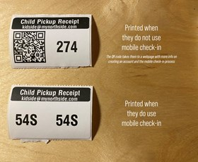 Conditional QR Code on Parent Pickup Label shared by Leah Jennings